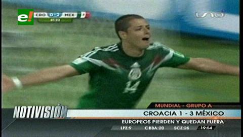 México golea a Croacia 3-1 y amarra el pase a octavos de final