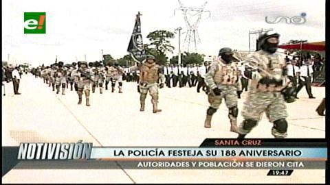 Santa Cruz: La Policía celebró su aniversario en el cambódromo