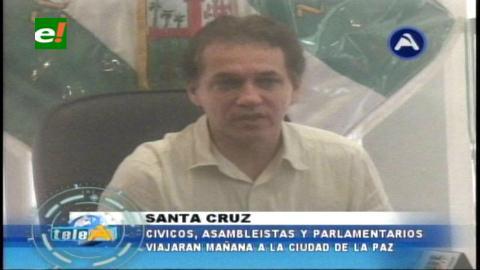 Cívicos cruceños viajan a La Paz para verificar como va la designación de vocales