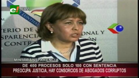 Sólo 30% de casos de corrupción tiene sentencia, según Suxo