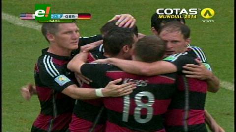 Alemania venció a EEUU por 1-0 y se aseguró el primer puesto del Grupo G