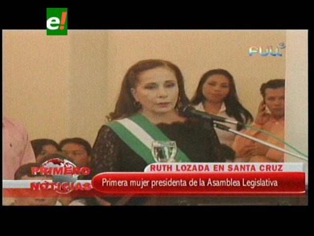 Ruth Lozada inicia su gestión con la lucha por los vocales para Santa Cruz