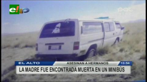 El Alto: Asesinan a una mujer y a su dos hijos
