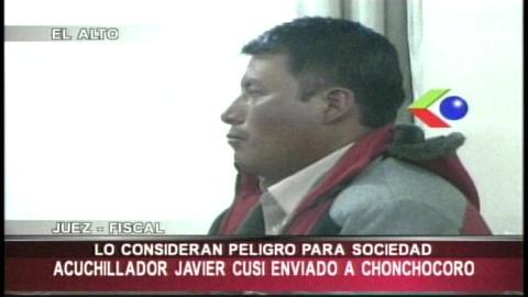 Envían a Chonchocoro al agresor que acuchilló a 13 personas en el aeropuerto de El Alto