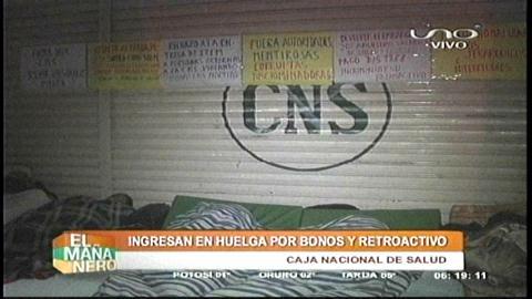 Personal de la CNS ingresa en huelga y amenaza suspender las consultas