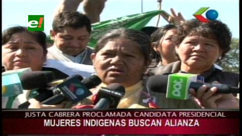 La dirigente Justa Cabrera fue proclamada como candidata a la presidencia por la mujeres indígenas