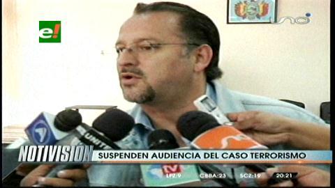 Caso terrorismo: Audiencia se suspende por inasistencia del Tribunal 1ro de Sentencia de La Paz