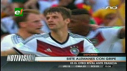 Virus de gripe afectó a siete jugadores alemanes