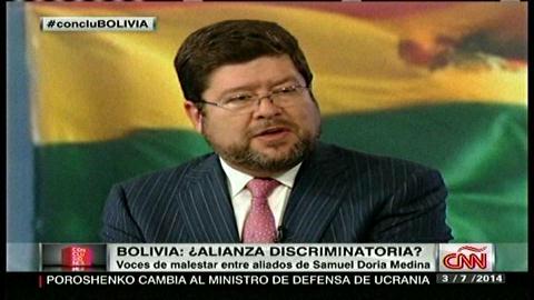 Samuel habla de presiones e incertidumbre política en la oposición boliviana