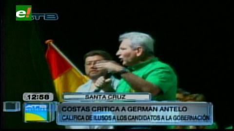 """Rubén Costas llama """"ilusos"""" a los que se postulen a la Gobernación cruceña"""