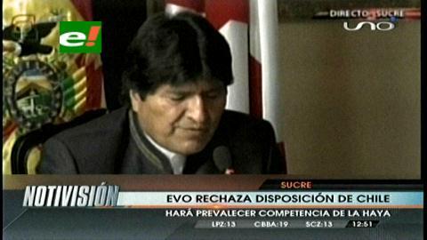 Evo: Bolivia rechaza decisión chilena de objetar competencia de la CIJ en caso marítimo