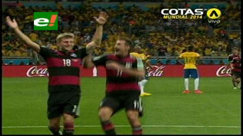 Alemania sorprende a Brasil con un 5 a 0 antes de la media hora de juego