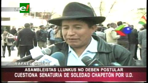 Rafael Quispe no quiere ser senador suplente de Chapetón