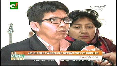 Evangelistas orarán el jueves por Evo Morales