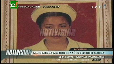 Montero: Mujer mata a su hijo de siete años y se suicida