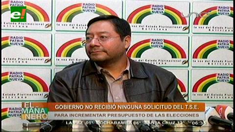 Ministro Arce Catacora no recibió carta del TSE que pide aumento de presupuesto para elecciones