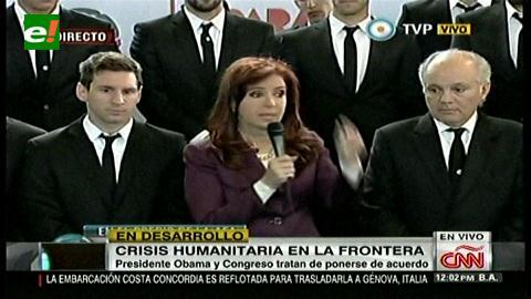 Orgullo argentino: Cristina y la gente reciben a la Selección como héroes