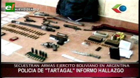 Argentina: Hallan armamento del Ejército boliviano en una comunidad indígena