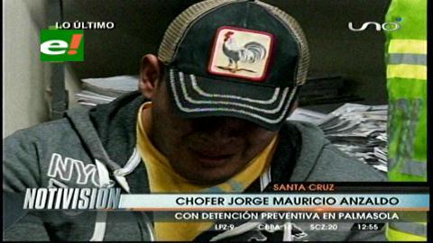 Chofer del accidente en la ruta G-77 fue enviado a Palmasola