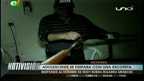 Montero: Adolescente se dispara accidentalmente con una escopeta