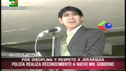 Ministro de Gobierno demanda a la Policía compromiso con la seguridad interna de Bolivia