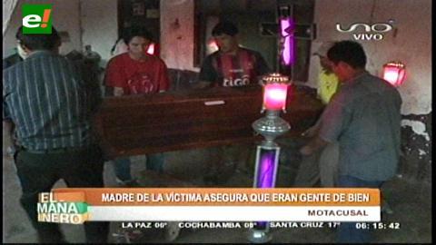 Familia de pareja asesinada sospecha quiénes son los autores del crimen