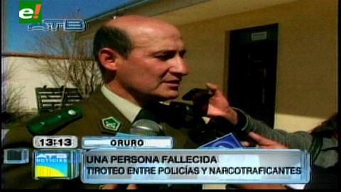 Oruro: Tiroteo entre narcotraficantes y policías deja un fallecido