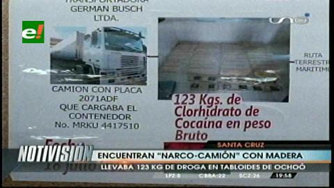 Felcn incauta un narco-camión con madera