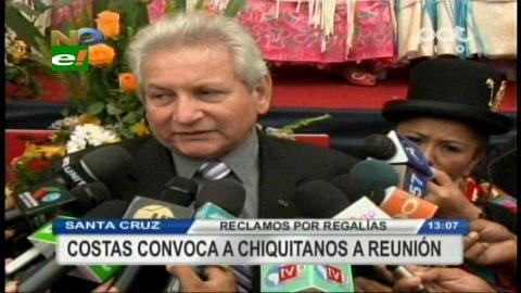 Rubén Costas convocó al diálogo a los alcaldes chiquitanos