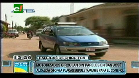 Vehículos indocumentados circulan en San José de Chiquitos