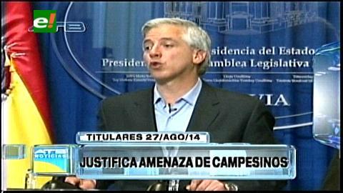 Titulares: García Linera justifica amenaza de los campesinos por el voto cruzado