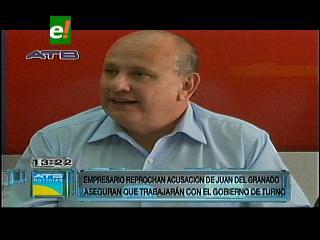 Empresarios cruceños lamentan declaraciones de Juan Del Granado