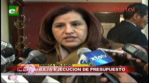 Diputada Delgado critica la baja ejecución presupuestaria en la Cámara Baja