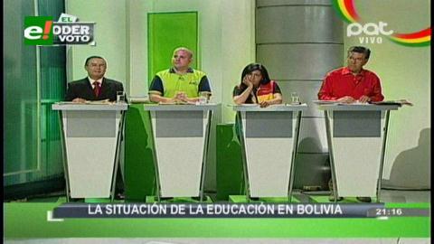 Candidatos exponen sus propuestas sobre la Educación en Bolivia