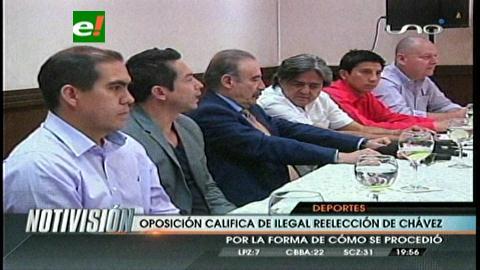 Opositores afirman que posesión de Chávez es ilegal y anuncian impugnación
