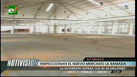 Alcaldía y comerciantes inspeccionan nuevo mercado La Ramada