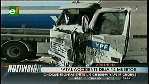 Accidente vial en Argentina deja 12 muertos