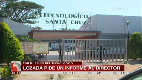 Investigan el uso de muebles del Tecnológico de Santa Cruz en casas de campaña del MAS