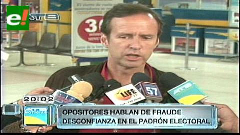 """Tuto desconfía del padrón electoral: """"Evo quiere hacer fraude en las elecciones"""""""