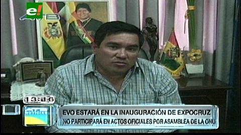 Confirman la presencia de Evo Morales en la inauguración de la Fexpocruz 2014