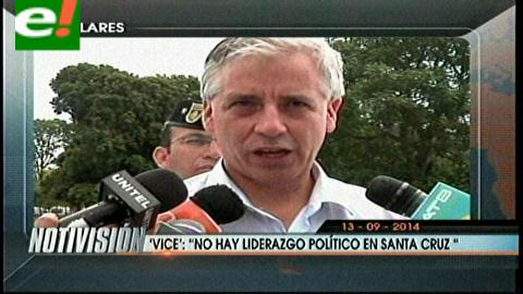 Titulares: Vicepresidente asegura que no hay liderazgo en Santa Cruz