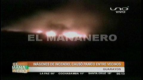 Guarayos: Incendio causó pánico entre vecinos