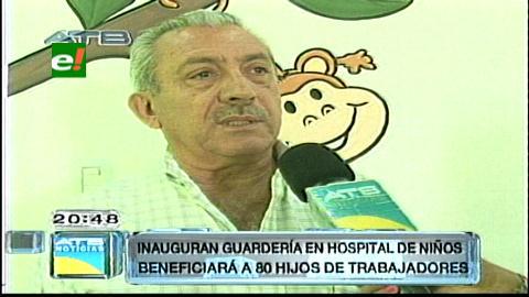 Instalan guardería en el Hospital de Niños de Santa Cruz
