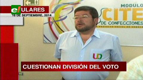 Titulares: Samuel acusa a Tuto de robar el voto de la oposición en favor del MAS