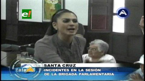 Incidentes en sesión de la Brigada Parlamentaria Cruceña