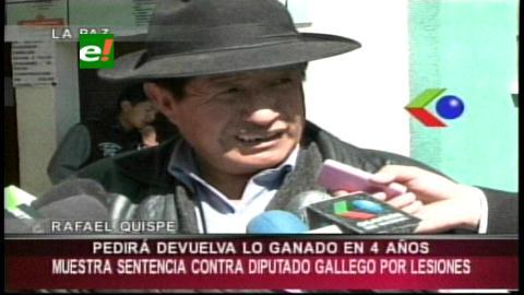 Candidato de UD pide a diputado Gallego devolver su salario por tener sentencia condenatoria