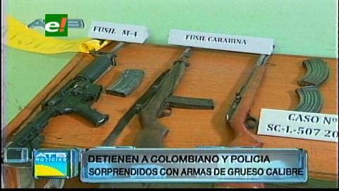 Encuentran 2 ametralladoras en poder de un colombiano