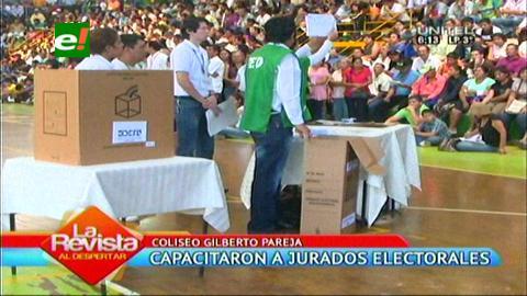 Santa Cruz: TSE capacitó a los jurados electorales