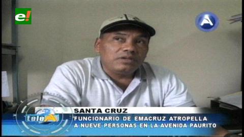 Funcionario de Emacruz atropella nueve personas