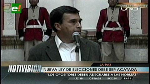 Quintana dice que partidos deben acatar Ley para elecciones 2015